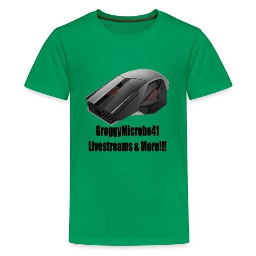 Groggy Microbe Mouse Logo - Kids' Premium T-Shirt