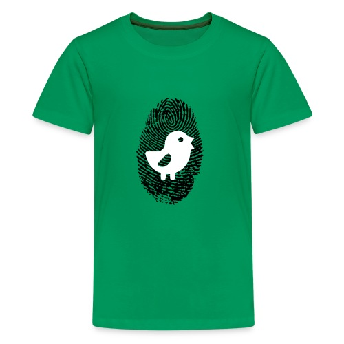 Chick Finger Print - Kids' Premium T-Shirt