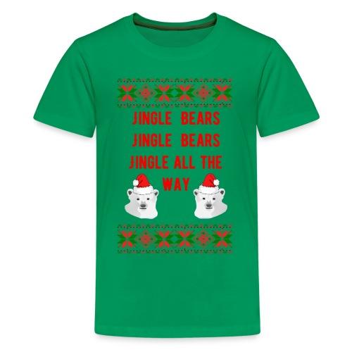 Jingle Bear (Red Text) - Kids' Premium T-Shirt