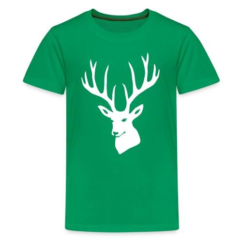 stag night deer buck antler hart cervine elk - Kids' Premium T-Shirt