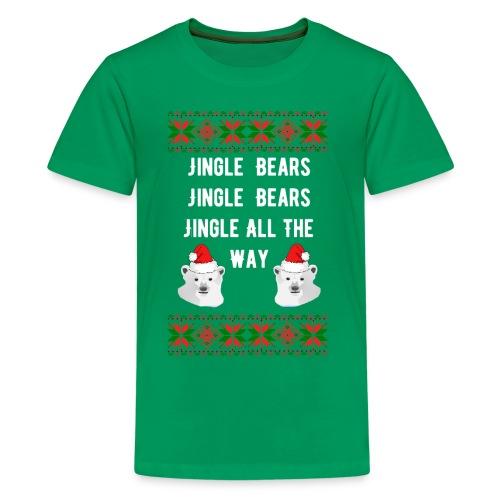 Jingle Bears (White Text) - Kids' Premium T-Shirt