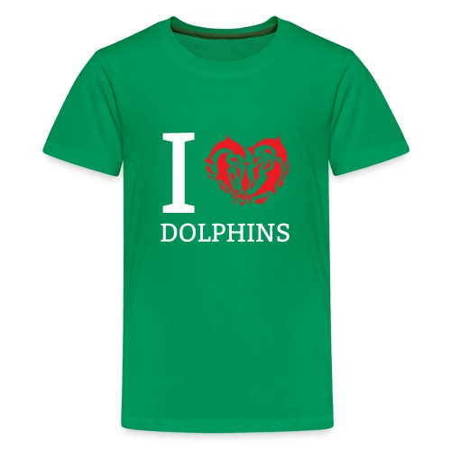 I love Dolphins Cute Gift Idea for Dolphin Lovers - Kids' Premium T-Shirt