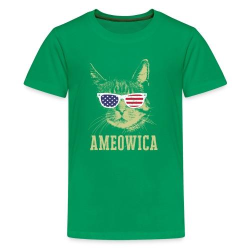 Ameowica Shirt Funny Cat Daddy Shirt for Men - Kids' Premium T-Shirt