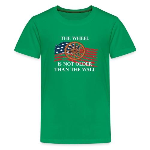 Trump Wheel older than wall - Kids' Premium T-Shirt