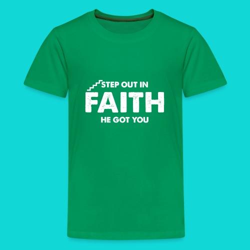 Step Out In Faith - Kids' Premium T-Shirt