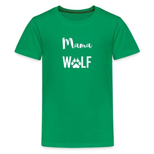 Mama Wolf Pregnancy Announcement - Kids' Premium T-Shirt