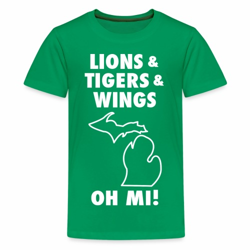 LIONS & TIGERS & WINGS, OH MI! - Kids' Premium T-Shirt