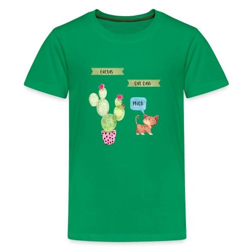 Cactus-Cat Cuss - Kids' Premium T-Shirt