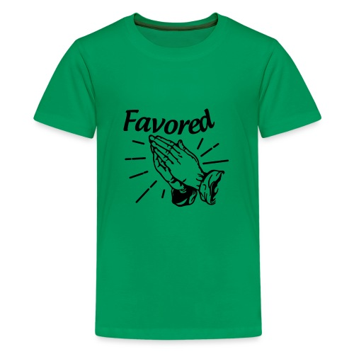 Favored - Alt. Design (Black Letters) - Kids' Premium T-Shirt