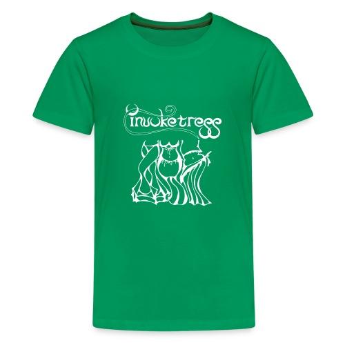 Invoketress Bellies Logo in White - Kids' Premium T-Shirt