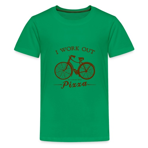 I WORK OUT FOR PIZZA - Kids' Premium T-Shirt
