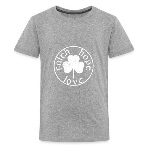 Irish Shamrock Faith Hope Love - Kids' Premium T-Shirt