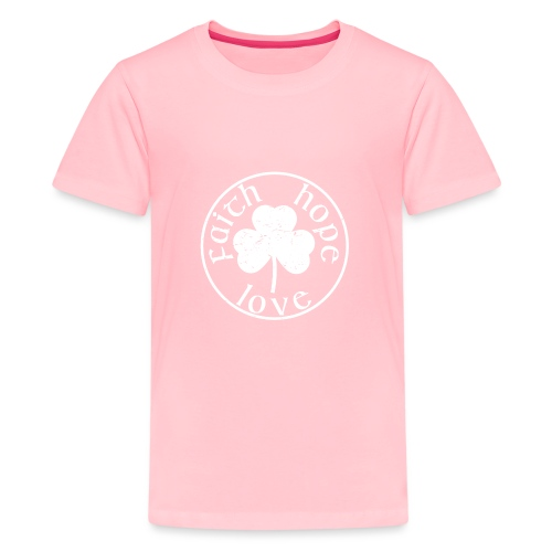 Irish Shamrock Faith Hope Love - Kids' Premium T-Shirt