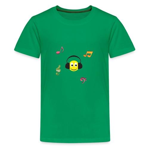 smiley face headphones - Kids' Premium T-Shirt