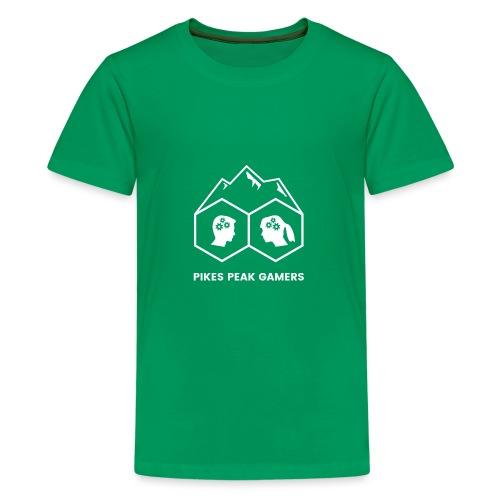 Pikes Peak Gamers Logo (Transparent White) - Kids' Premium T-Shirt