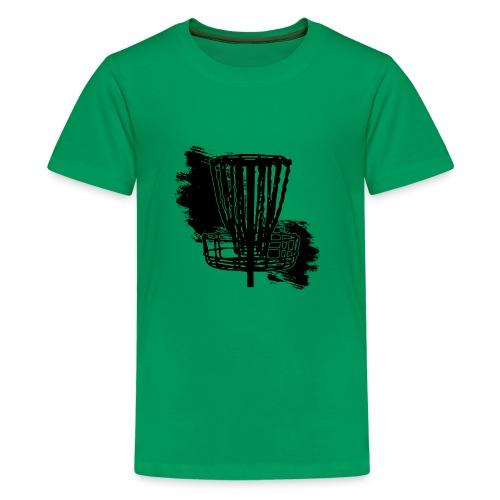 Disc Golf Basket Paint Black Print - Kids' Premium T-Shirt