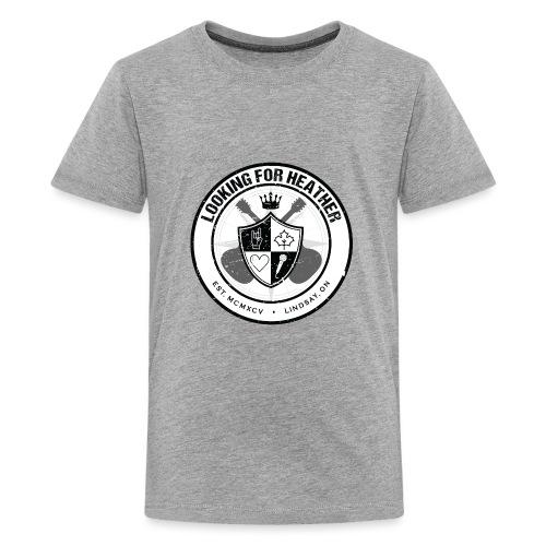 Looking For Heather - Crest Logo - Kids' Premium T-Shirt