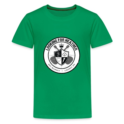 Looking For Heather - Crest Logo - Kids' Premium T-Shirt