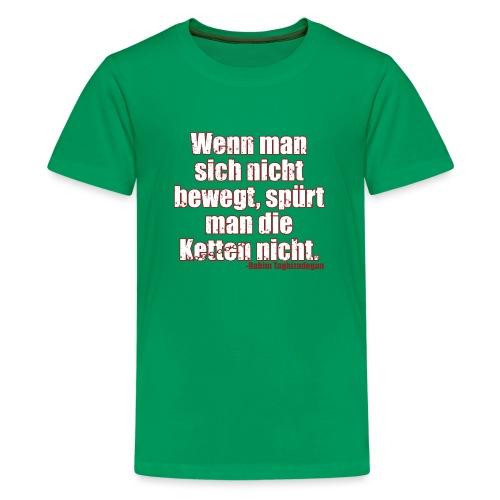 Chains Libertarian Quote Rahim Taghizadegan - Kids' Premium T-Shirt