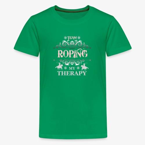 Team Roping My Therapy - Kids' Premium T-Shirt