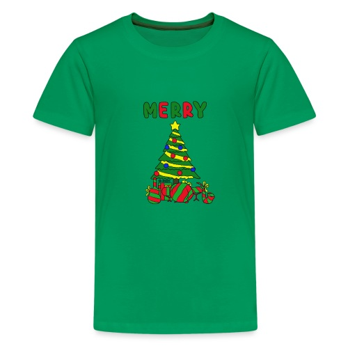 merry christmas tree instruments - Kids' Premium T-Shirt