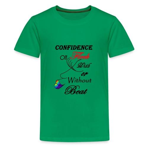 With or Without Beat SpilledPaint- Asphalt - Kids' Premium T-Shirt