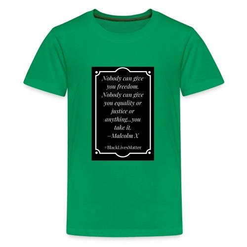 Black Lives Matter Malcolm X - Kids' Premium T-Shirt