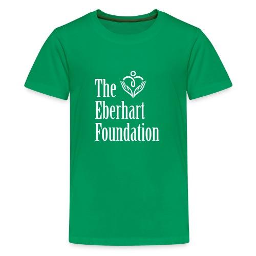 The Eberhart Foundation square logo white - Kids' Premium T-Shirt
