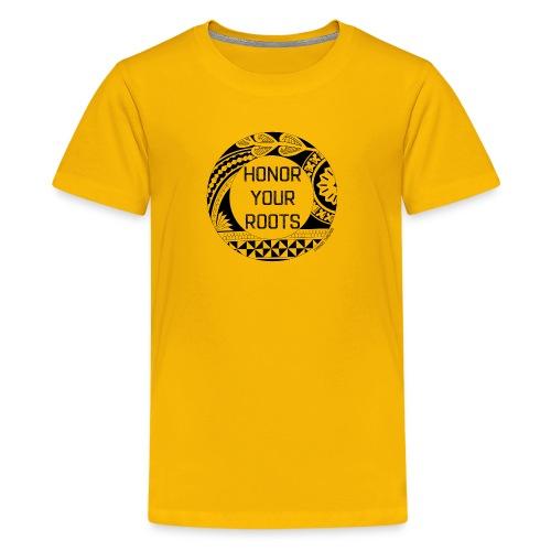 Honor Your Roots (Black) - Kids' Premium T-Shirt