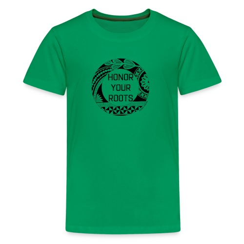 Honor Your Roots (Black) - Kids' Premium T-Shirt