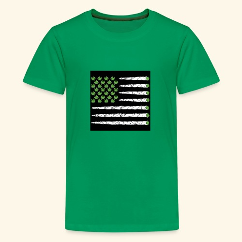 Weed American flag - Kids' Premium T-Shirt