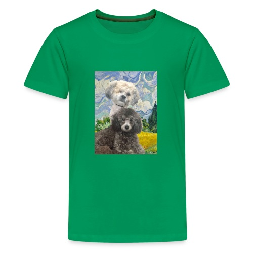 Morty and Wonton - Dogs of Modern Art - Kids' Premium T-Shirt