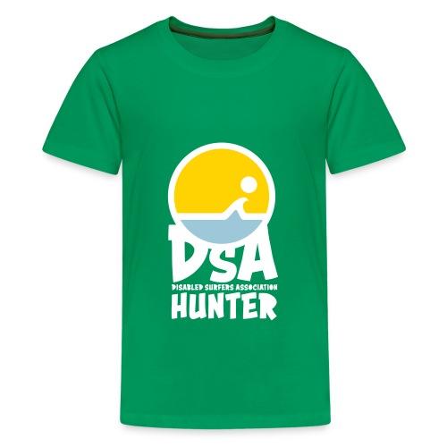 Disabled Surfers Association Hunter - Light Logo - Kids' Premium T-Shirt