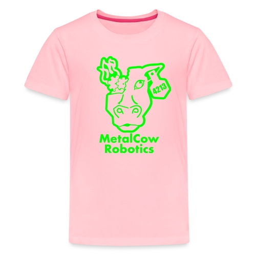 MetalCowLogo GreenOutline - Kids' Premium T-Shirt