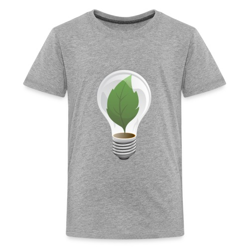 Clean Energy Green Leaf Illustration - Kids' Premium T-Shirt