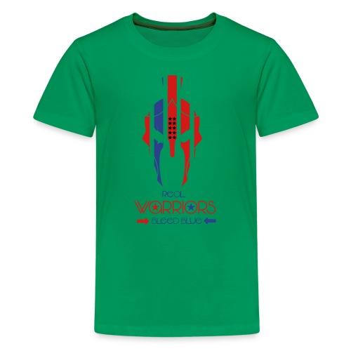 Real Warriors Bleed Blue tshirt. Limited Edition!! - Kids' Premium T-Shirt
