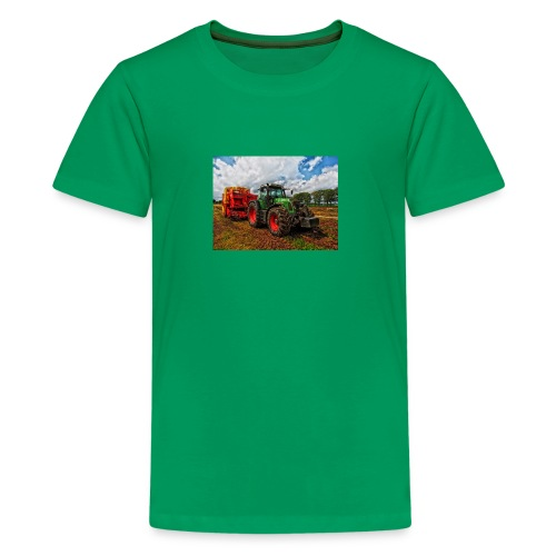 Tractor on a farm! - Kids' Premium T-Shirt