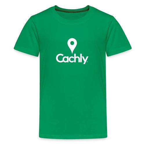 Logo White - New Design - Kids' Premium T-Shirt