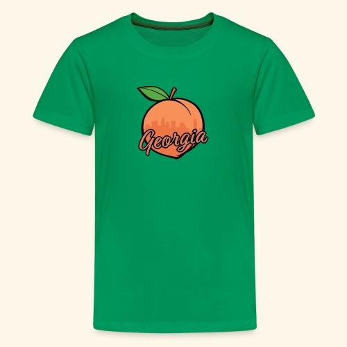Georgia Peach w/ ATL - Kids' Premium T-Shirt