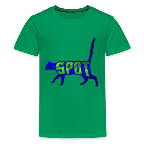 Data's Cat Spot (Blue and Green) - Kids' Premium T-Shirt