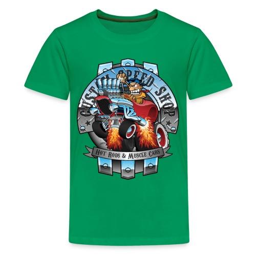 Custom Speed Shop Hot Rods and Muscle Cars Illustr - Kids' Premium T-Shirt