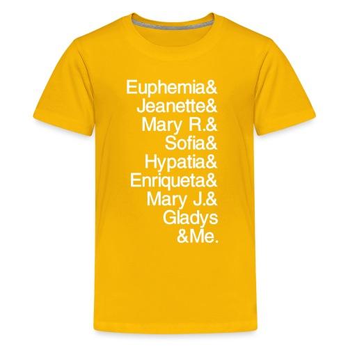 Math Gals 1sts &Me with #MathGals hashtag - Kids' Premium T-Shirt