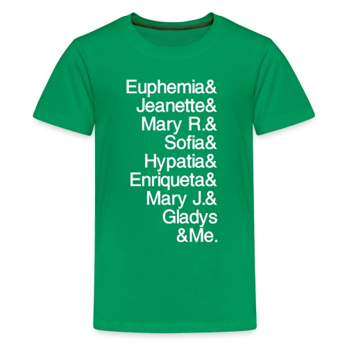 Math Gals 1sts &Me with #MathGals hashtag - Kids' Premium T-Shirt
