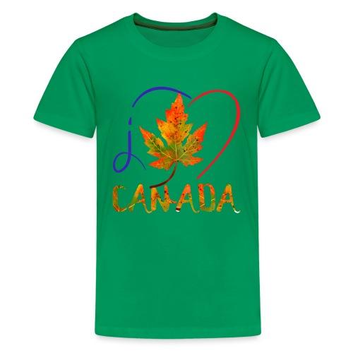 j'aime CANADA - T-shirt premium pour ados