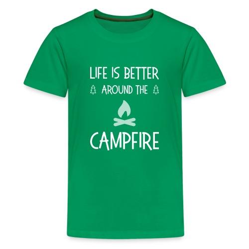Life is better around campfire T-shirt - Kids' Premium T-Shirt