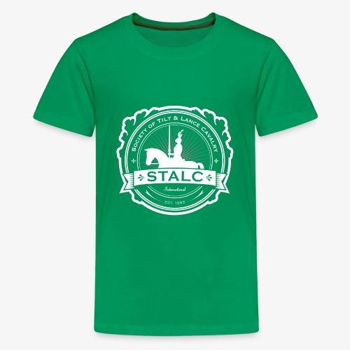 STALC Logo White only - Kids' Premium T-Shirt