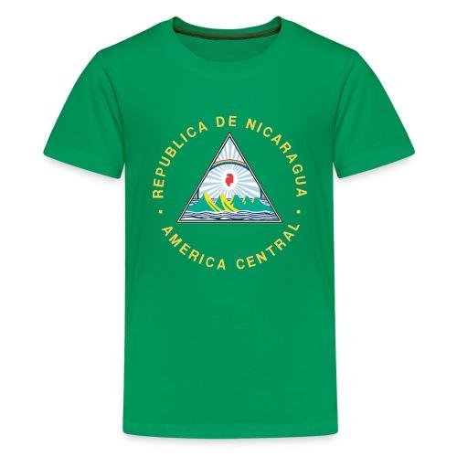 Nicaragua Flag Republica De Nicaragua - Kids' Premium T-Shirt