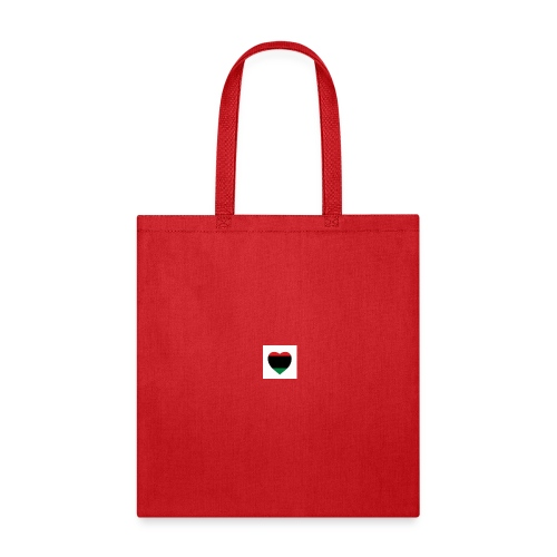 Red green and black heart - Tote Bag