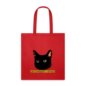 PunchTheEarth Cat with Text - Tote Bag