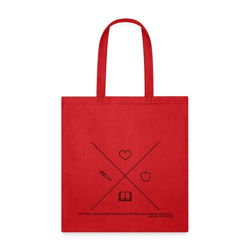 One Book, One Pen Cross Logo - Tote Bag